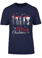 Merry Christmas Hairstylist Funny Hairdresser Barber Tools T Shirt
