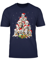 Alaskan Malamute Christmas Tree Funny Pajamas Xmas Gifts T Shirt