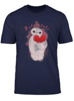 Disney Big Hero 6 Baymax Heart Portrait Graphic T Shirt