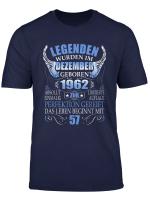 Geschenk Zum 57 Geburtstag Jahrgang 1962 Dezember 57 Jahre T Shirt