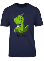 Tea Rex T Rex Dinosaur Dino Coffee Hot Drink Cool Cute Funny T Shirt