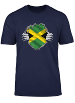 Super Jamaican Heritage Shirt Jamaica Roots Flag Gift T Shirt