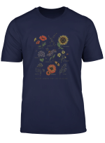 Bloom Where You Are Planted Botanican Flower Gift T Shirt