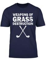 Weapons Of Grass Destruction Golf Funny Golf T Shirt
