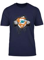 Merry Christmas Football Team Superhero Miami Dolphin T Shirt