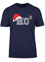 Ho Ho Ho X 3 Third Power Funny Christmas Holiday Humor T Shirt