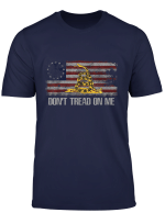 Vintage American Flag Snake T Shirts 1