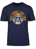 Mens Best Doodle Dad Ever Vintage Dog Golden Doodle Gift T Shirt