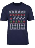 Ugly Christmas Xmas Sweater Norweger Weihnachten Muster T Shirt