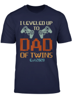 Promoted To Daddy I Leveled Up To Dad Of Twins Est 2020 T Shirt