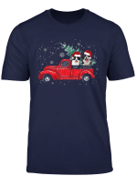Christmas Dog Into Red Car Border Collie Driving Trucker T Shirt