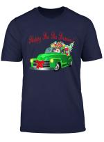 Christmas Santa Vintage Classic Lowrider Slammed Truck T Shirt