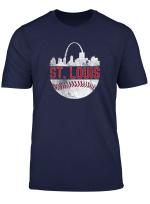 Vintage City Skyline Retro Baseball Fan Apparel St Louis Fan T Shirt