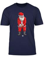 Santa Golf Club And Ball Sport Christmas Boys Golfer Golfing T Shirt