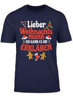 Witziges Weihnachtsoutfit Weihnachtsmann Nikolaus Kostum T Shirt