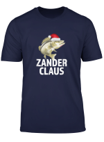Zander Claus Lustiges Angler Angel T Shirt