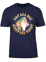 Disney Snow White Dwarf Sleepy Nap All Day Graphic T Shirt