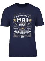 Geschenk Zum 60 Geburtstag Jahrgang 1959 Mai T Shirt Mann