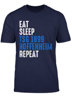 Eat Sleep Hoffenheim Repeat T Shirt Fussball Ultras Fans