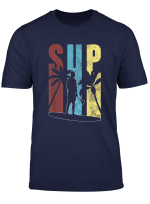 Herren Retro Sup Shirt Fur Manner Palmen Stand Up Paddle T Shirt