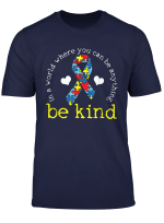 Autism Awareness Tshirt Kindness Puzzle Ribbon Heart T Shirt