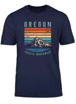 Oregon Retro T Shirt Vintage Portland Home State Mountains