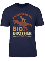 T Rex Riding Dinosaur Vintage Promoted To Big Brother 2020 T Shirt