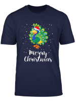 Funny Cute Merry Christmas Peacock Costume Holiday Xmas Gift T Shirt