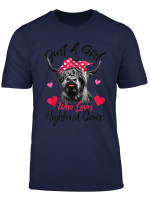 Just A Girl Who Loves Scottish Highland Cows T Shirt