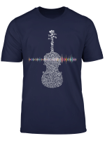 Violin Viola Cello Bass Artistic Music Sound Wave T Shirt