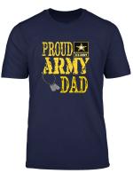 Mens Proud Army Dad Shirt Military Pride T Shirt