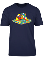 Rubik Cube Melting Retro Vintage T Shirt Puzzle Lovers Gifts