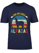 Youth This Kid Loves Alpacas Boys And Girls Alpaca Gift T Shirt