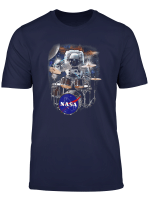 Nasa Astronaut Drummer Boy In Space Graphic T Shirt