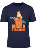 Gamer Rush B Cyka Blyat T Shirt Mit Hahn Zocker Geschenkidee