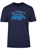 Vintage Detroit Michigan Cityscape Retro Football Shirt