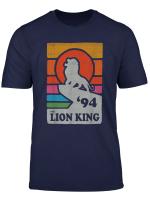 Disney The Lion King Pride Rock Retro Line Art Poster T Shirt