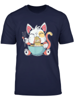 Ramen Cat Kawaii Anime Tee Japanese Gift T Shirt