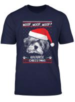 Woof Havaneser Weihnachten Shirt Lustige Weihnachts Geschenk