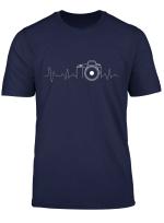 Photographer T Shirt Gift Idea Heartbeat Photography Camera