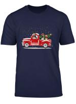 Basset Hound Red Truck Christmas Shirt Funny Dog Lover Gift T Shirt