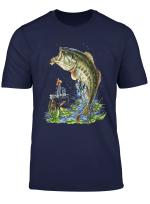 Men S Fishing Graphic T Shirt Large Mouth Bass Fish Gift