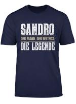 Vorname Sandro T Shirt Geschenk Name Sandro
