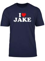 I Love Jake Heart T Shirt