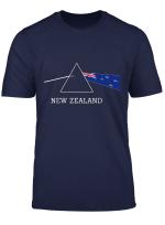 New Zealand Flag Prism Light New Zealand Album Record T Shirt