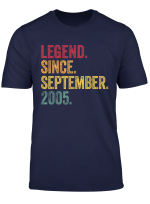 Legend Since September 2005 14Th Birthday Gift 14 Years Old T Shirt
