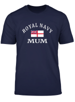 Navy Mum T Shirt Proud Royal British Mother Gift Top