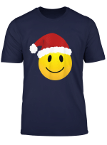 Happy Smiley Santa Face Emoticon Matching Christmas Party T Shirt