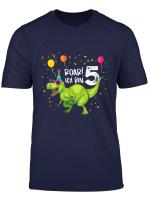 Kinder Geburtstagsshirt 5 Jahre Junge Dinosaurier Dino Ich Bin 5