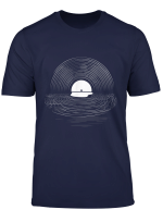 Vinyl Record Sun Set Shimmer By The Sea T Shirt Design